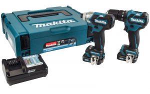 Makita CLX205AJ 10.8v CXT Combi Drill & amp; Kit de controlador de impacto[